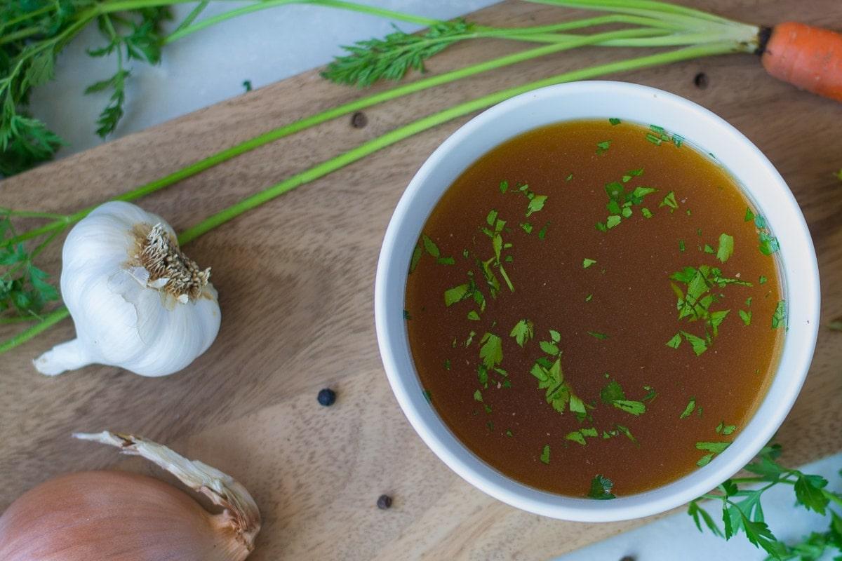Fixed on Fresh - Slow Cooker Chicken Bone Broth Recipe