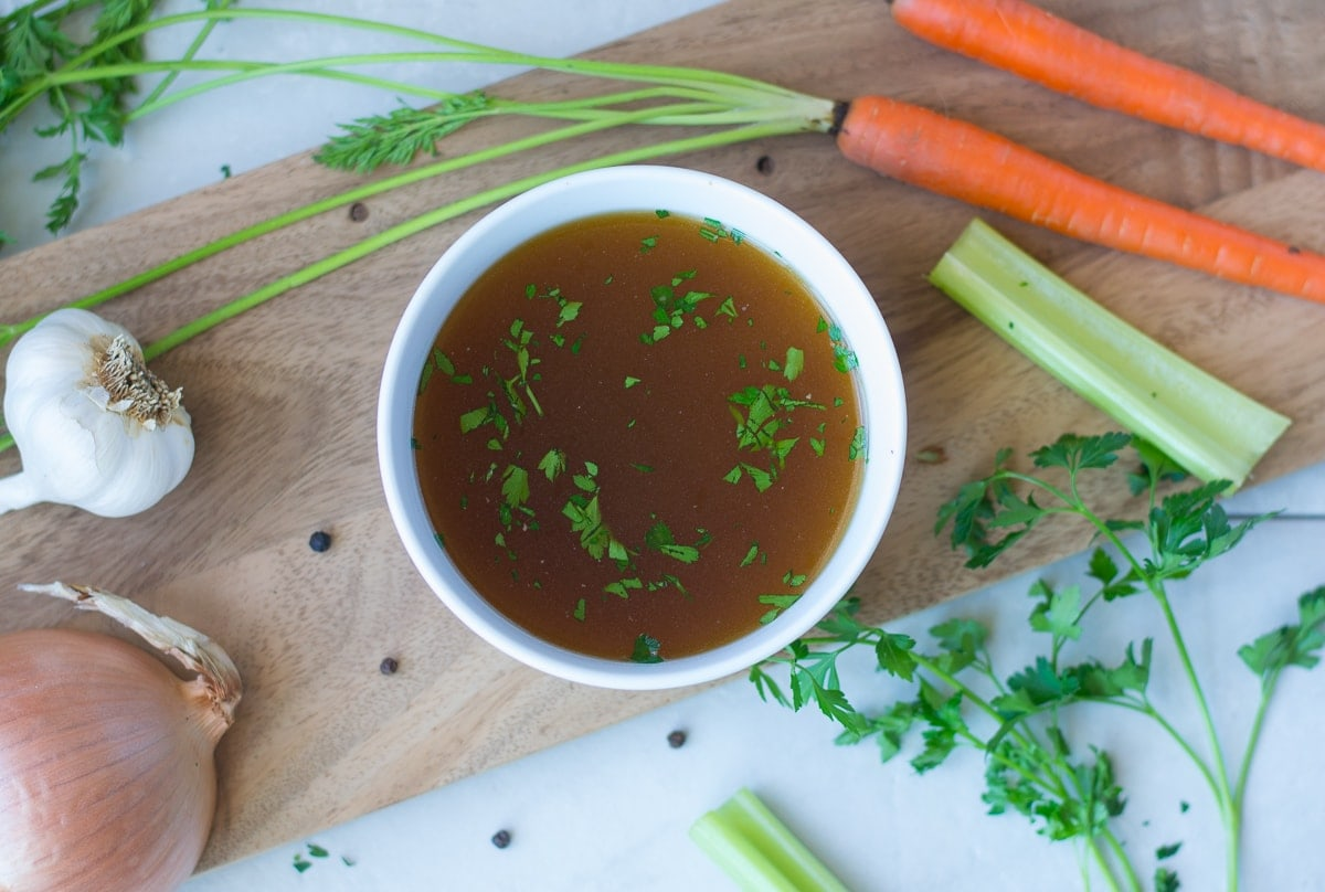 Fixed on Fresh - Slow Cooker Chicken Bone Broth Recipe