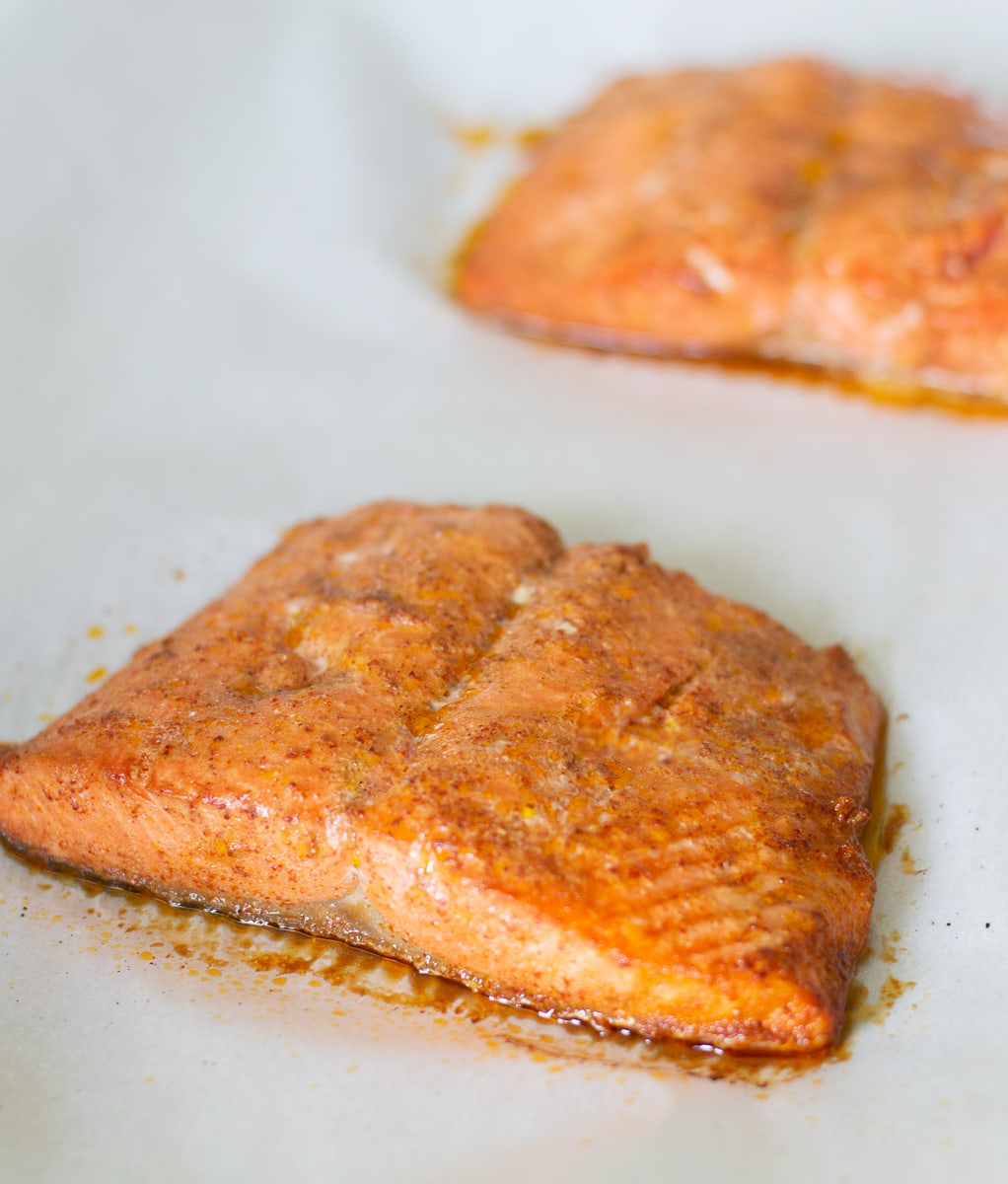 Chipotle Lime Salmon with Mango Avocado Salsa - Paleo, Whole 30 - Fixed on Fresh