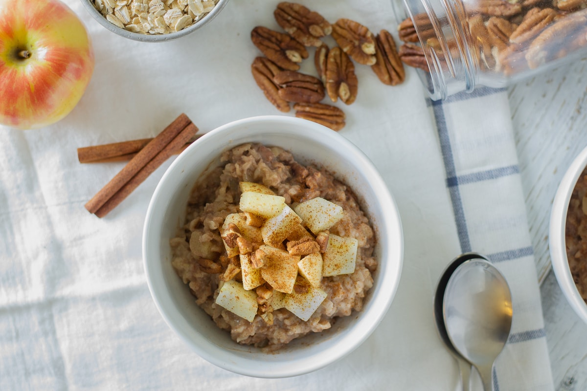 Fixed on Fresh - Instant Pot Apple Cinnamon Oatmeal {gluten free - dairy free}