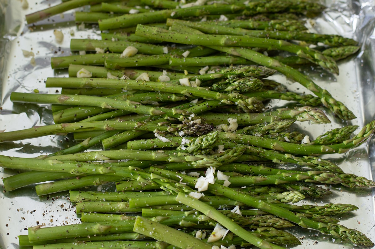 Fixed on Fresh - Roasted Asparagus with Feta and Pine Nuts