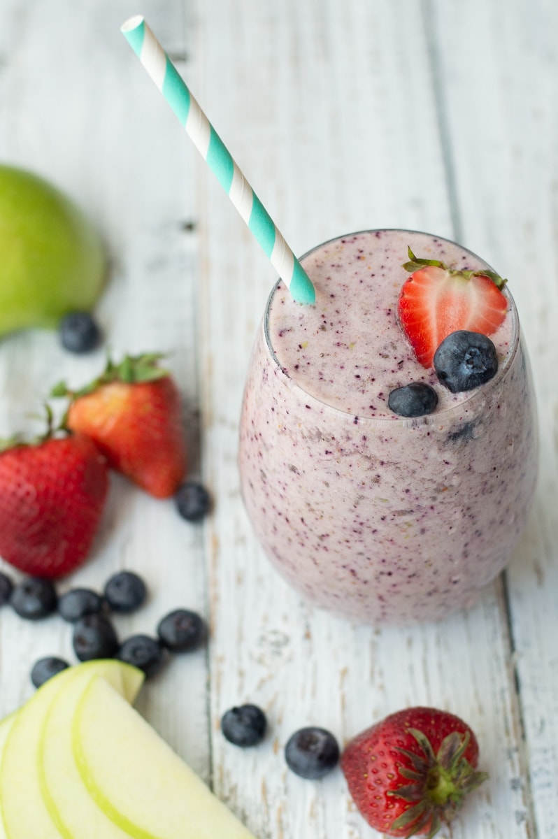 Fixed on Fresh - Healthy Breakfast Smoothing - High in fiber and protein