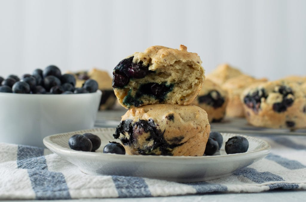 Fixed on Fresh - Vegan Gluten Free Blueberry Almond Muffins {gluten free, dairy free, egg free}