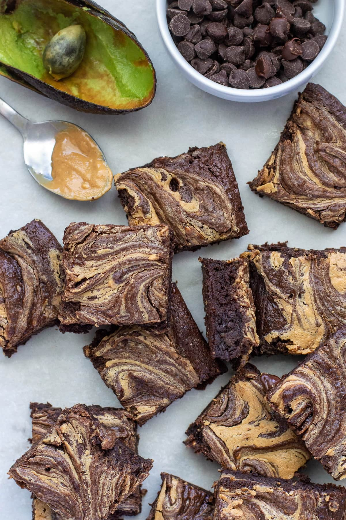Gluten Free Dairy Free Peanut Butter Avocado Brownies - FIXED on FRESH