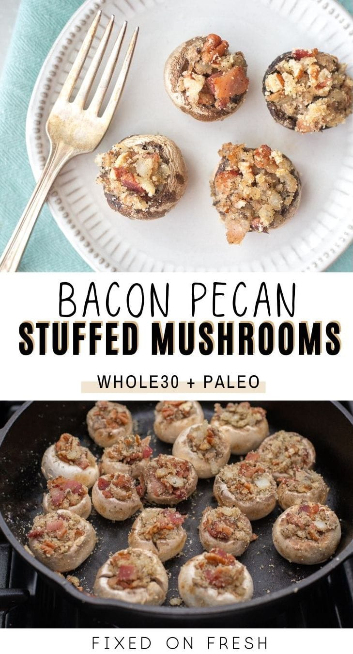 A whole30 and paleo approved appetizer recipe made with smokey bacon and pecans with extra flavor from onion, ghee and sage.
