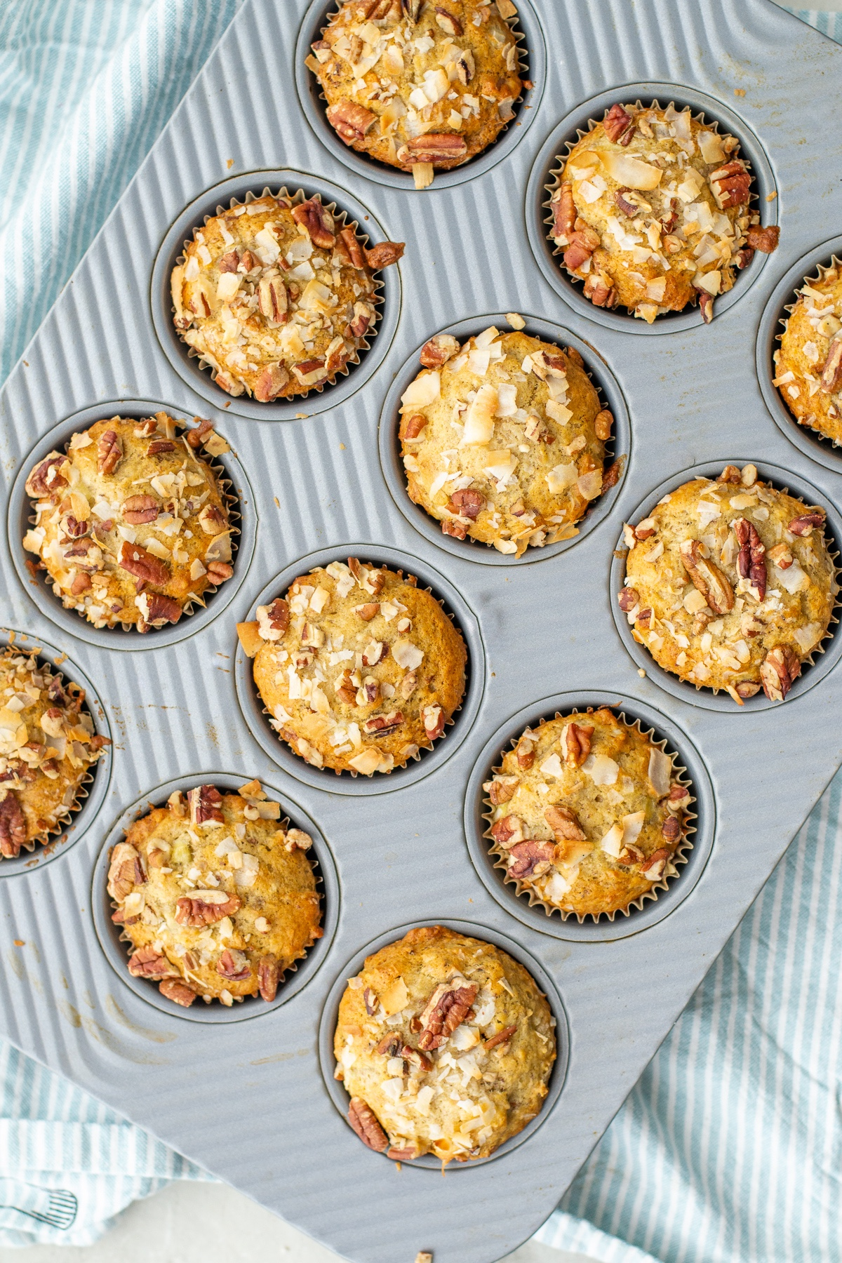 How the muffins will look after baking