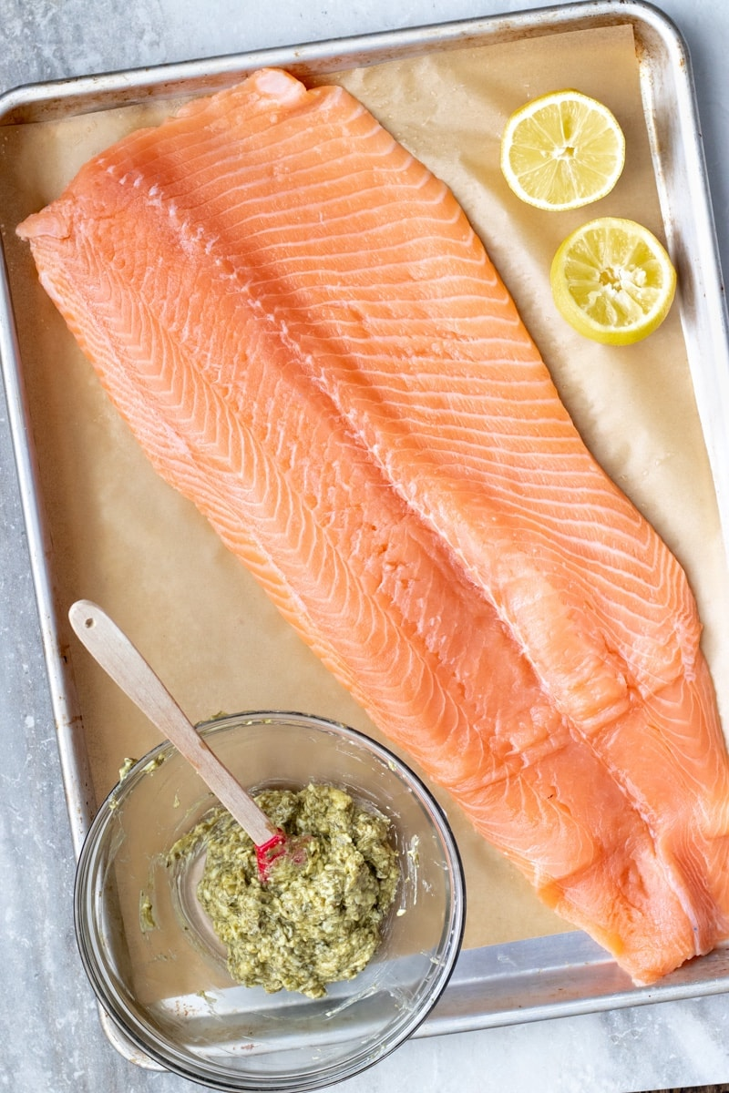Ingredients you need to weeknight pesto butter salmon