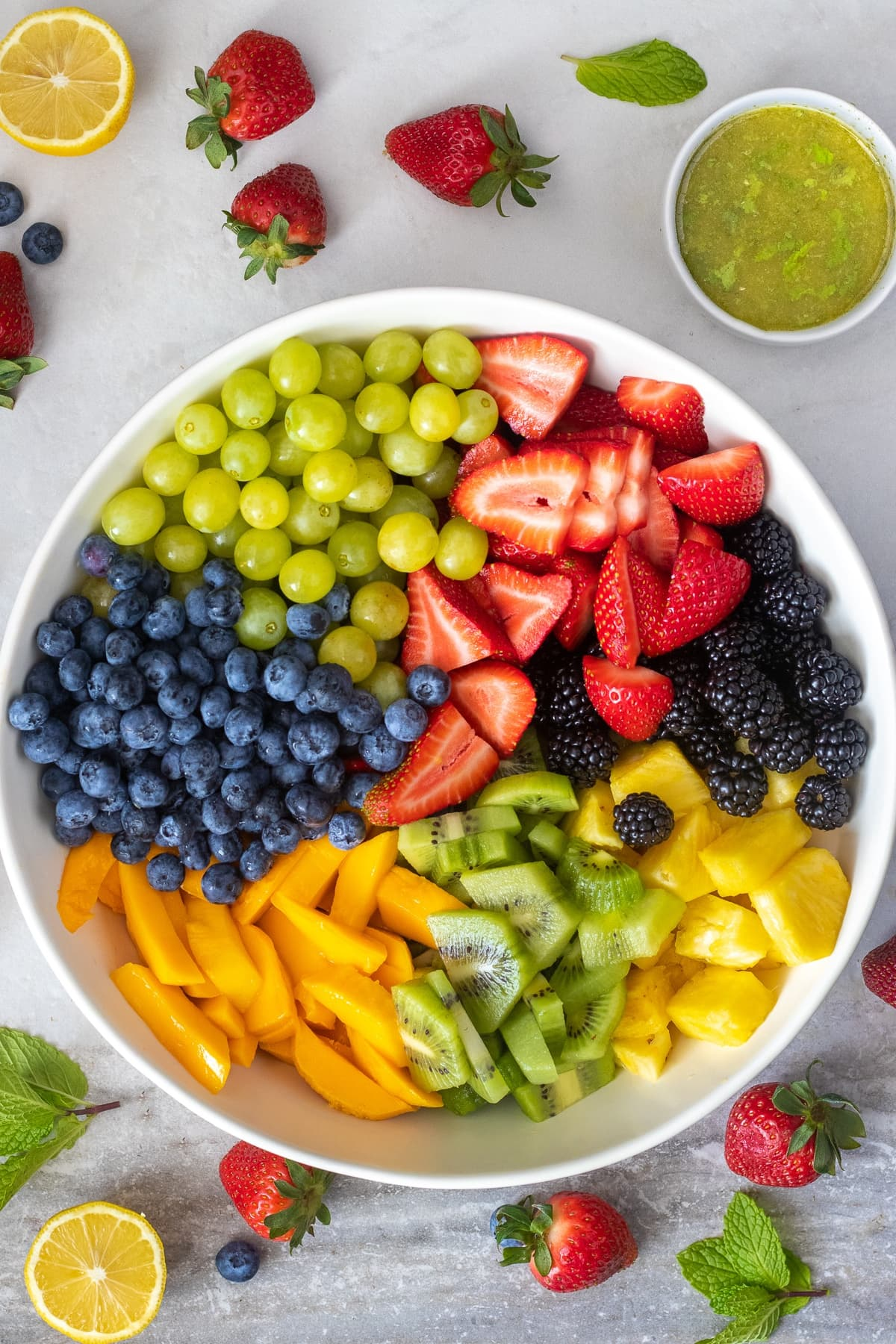 Fresh fruit salad with citrus mint glaze - FIXED on FRESH