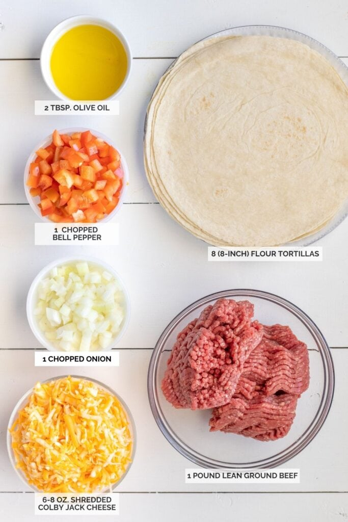 Ingredients for enchiladas