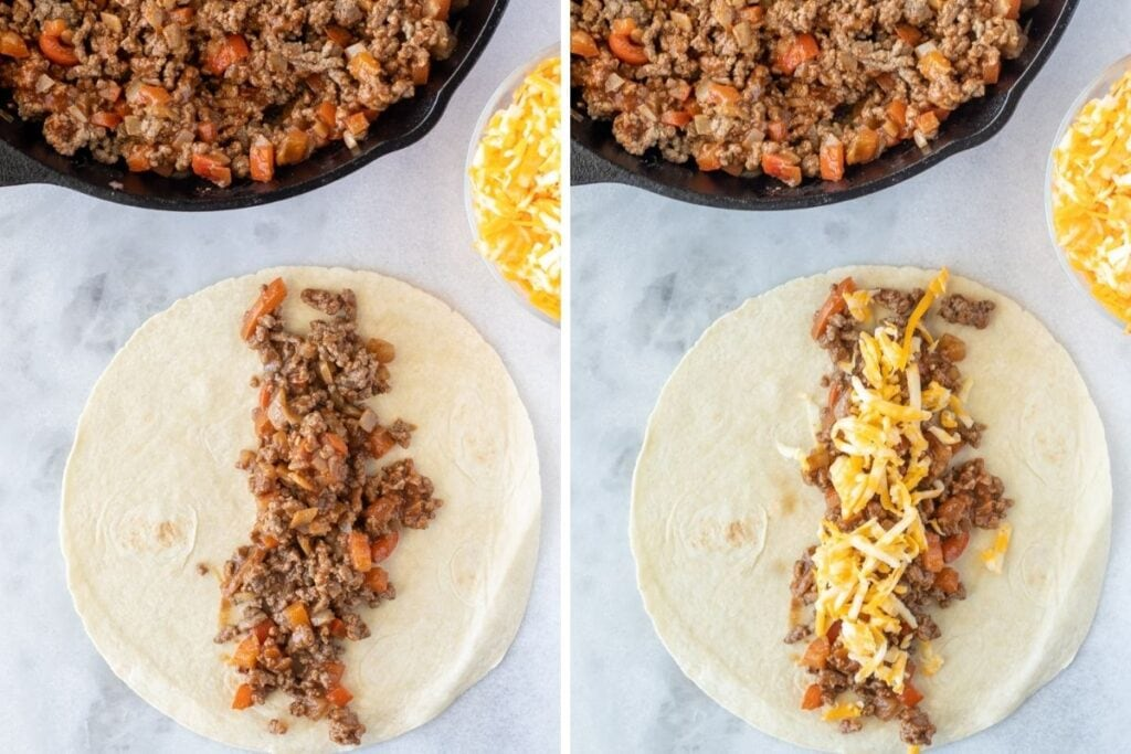 How to assemble the enchiladas