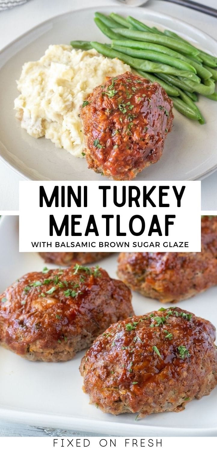 Mini turkey meatloaves are healthy and easy to make in under 40 minutes. These are perfect for weeknight meals or meal prep.