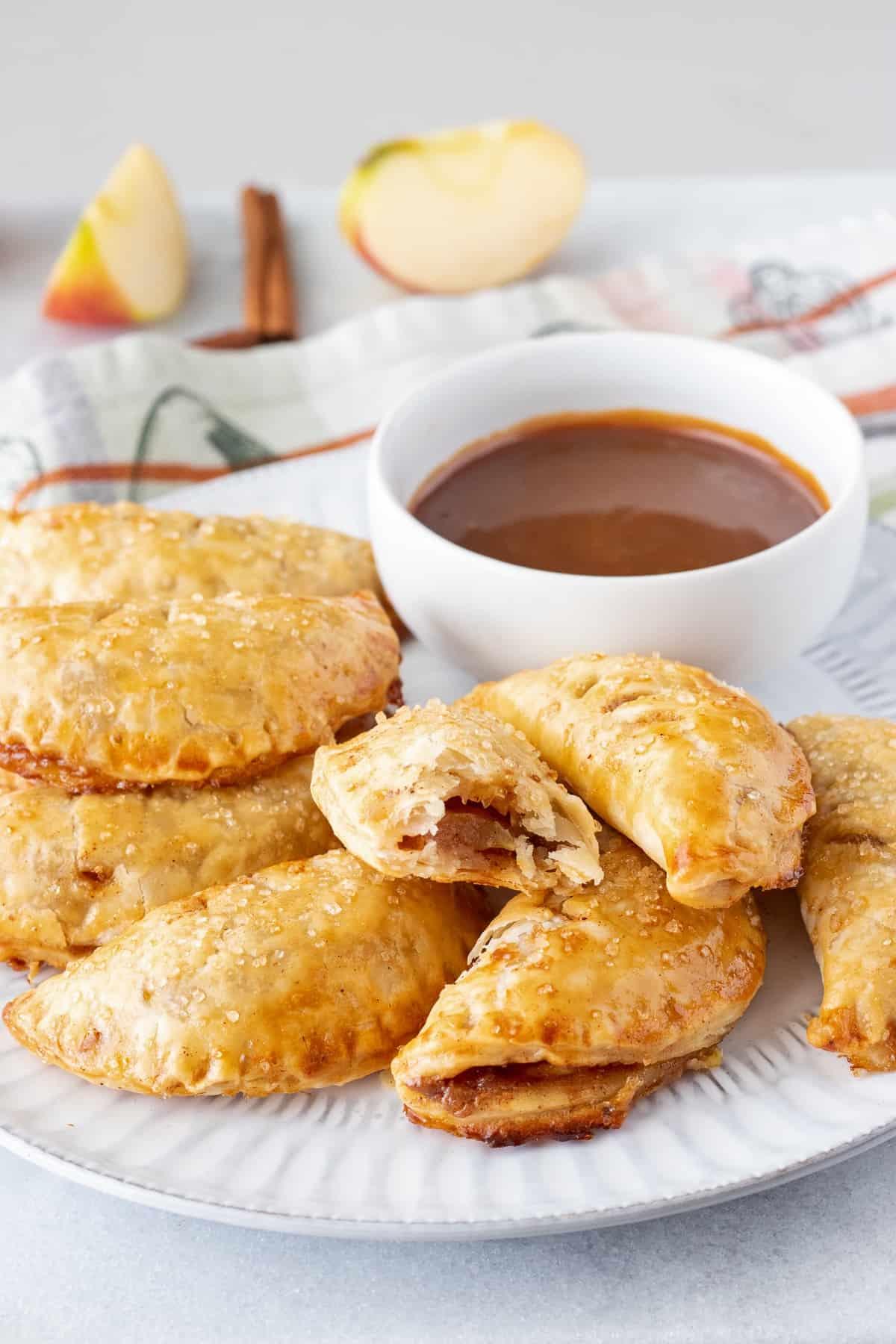 Serve mini apple pies at a dessert bar!