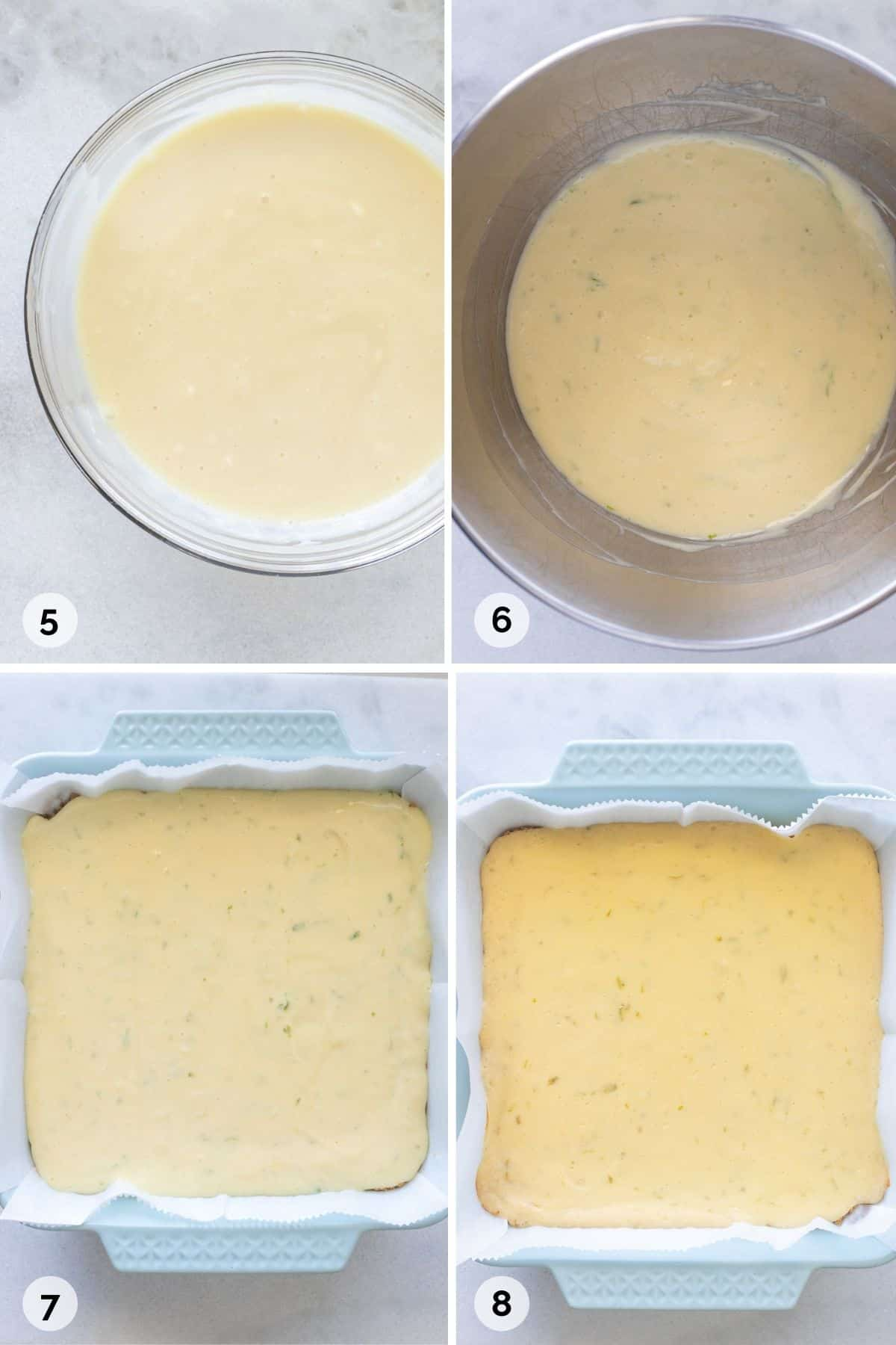 How to make key lime filling with cream cheese and bake the bars.