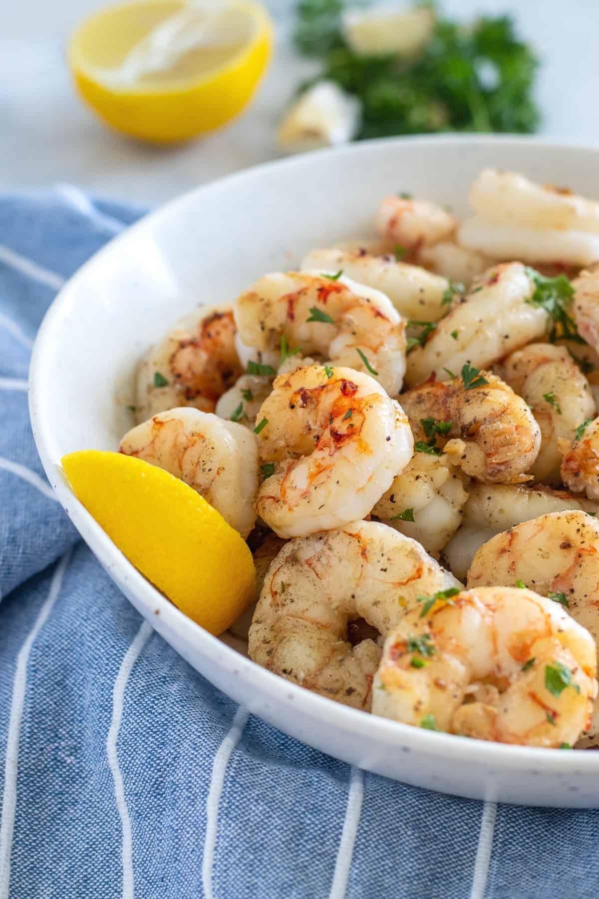 Serving suggestion for shrimp
